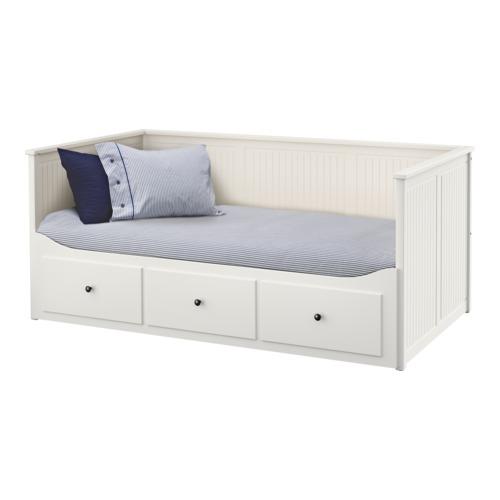 이케아 IKEA HEMNES 헴네스 데이베드프레임+서랍3 화이트(80x200cm) 703.493.27