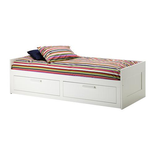 """[""""오늘수령""""오후4시 이전 주문][오빠랑]이케아 브림네스 IKEA BRIMNES 침대 데이베드프레임+서랍2 (80x200cm) 503.544.85"""
