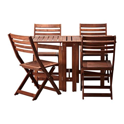 이케아 에플라뢰 APPLARO 테이블+ 의자 4개 198.984.46